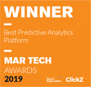 Keen is the winning of ClickZ's 2019 Mar Tech Awards for best predictive analytics platform