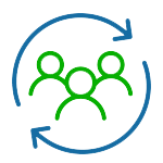 We value teamwork icon for Keen about us page