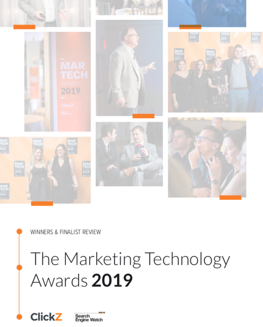 Cover of ClickZ report on the marketing technology awards 2019