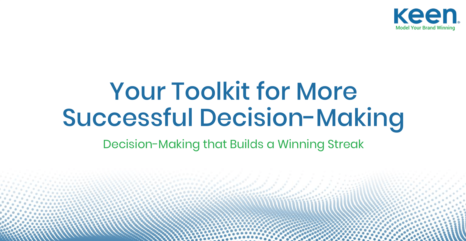Cover of keen guide on successful decision-making in predictive marketing analytics