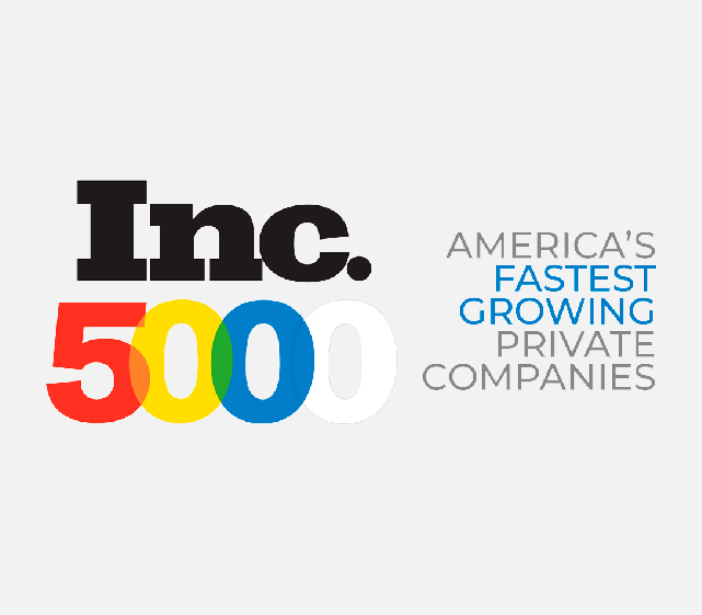awarded Inc 5000 America's fastest growing companies